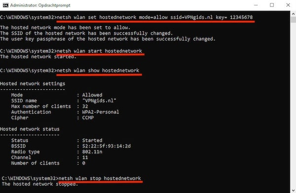 Command prompt virtual router