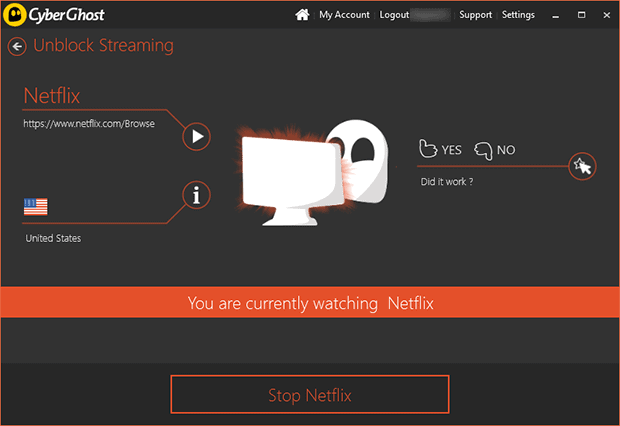 CyberGhost Software Netflix