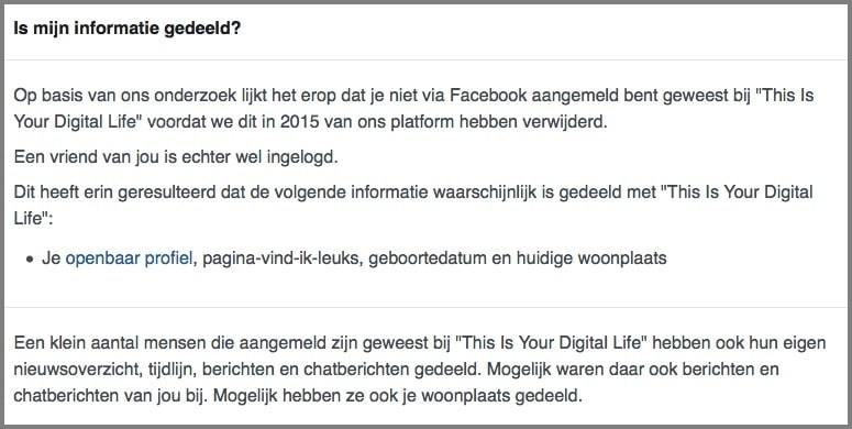 Facebook Cambridge Analytica lek