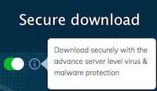 Secure download button