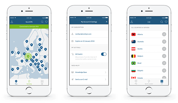 NordVPN iPhone Screenshots