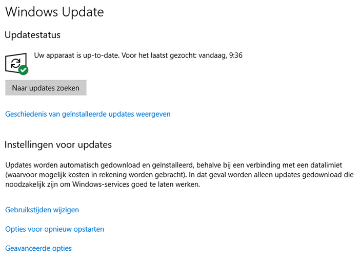 Windows Update Scherm