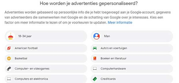 Advertenties Google