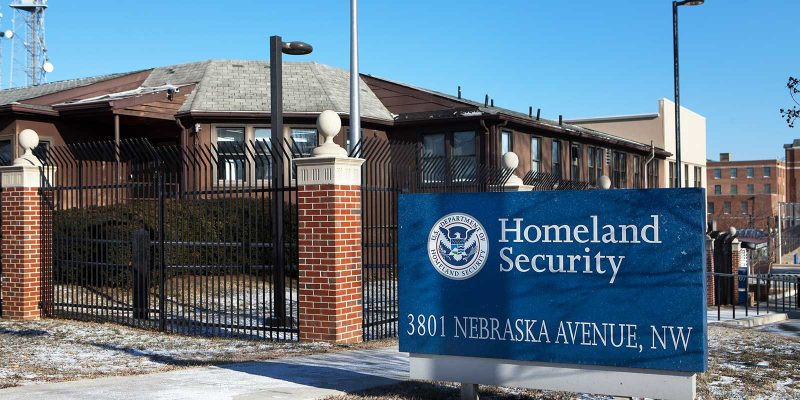 Department of Homeland Security poort in Amerika