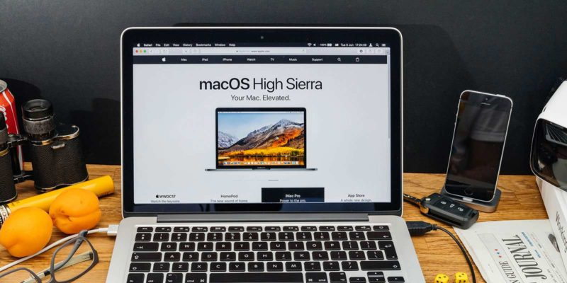 macOS High Sierra Screenshot laptop