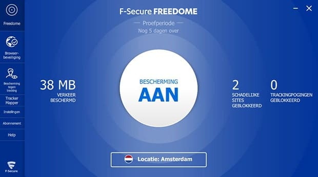 F-Secure FREEDOME VPN software