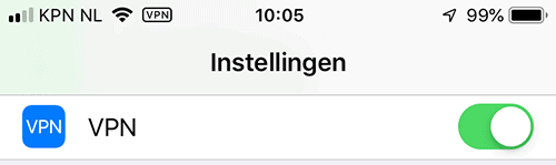 iPhone Instellingen VPN