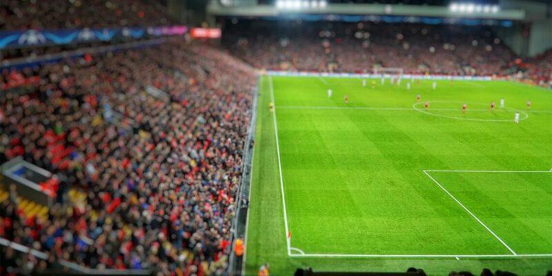 Champions League wedstrijd in stadion