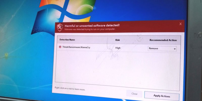 Ransomware melding pc