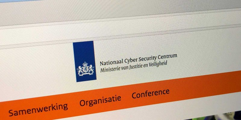 Website Nationaal Cyber Security Centrum Nederland