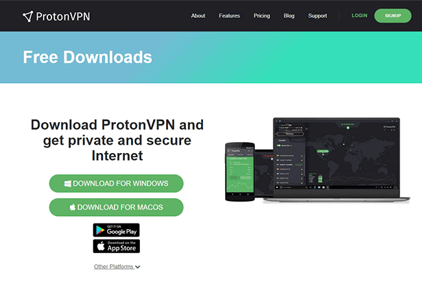 ProtonVPN website download