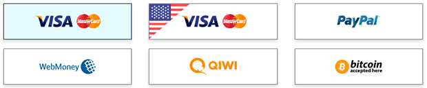 RusVPN payment methods