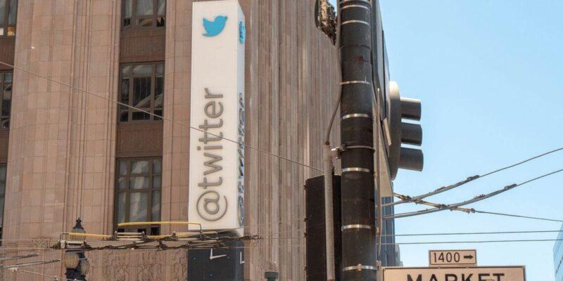 Twitter kantoor uithangbord