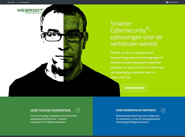 Webroot Website Homepage